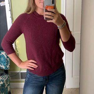 Burgundy J. Crew sweater!
